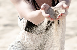 sand slipping through fingers